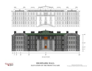 Highdark Hall - Front Elevation